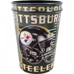 PLASTIC CUPS STEELERS 2 PACK 16OZ