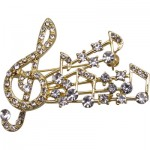 RHIN BROOCH G-CLEF BURST GOLD