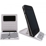 CELL PHONE HOLDER STAFF WHITE