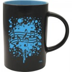MUG BLACK CAFE BLUE NOTES BURST